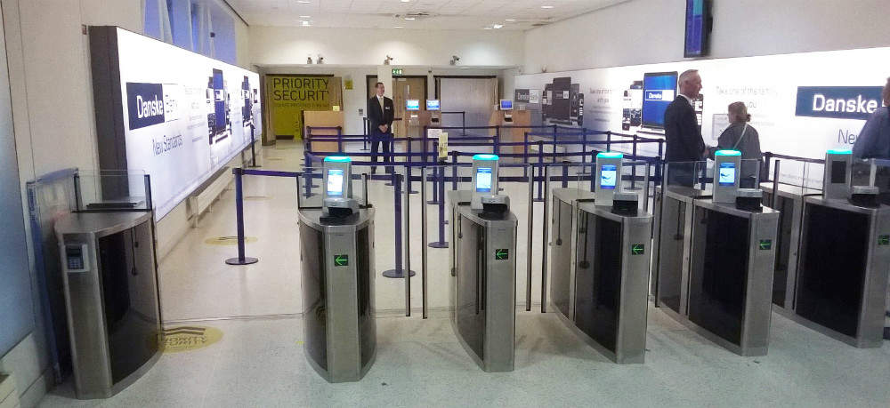 Belfast airport presecurity gates
