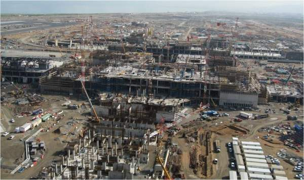 Construction site, Muscat Airport.