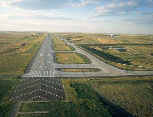 Runway 16R/34L - Denver airport's much publicised addition - is the longest commercial runway in North America.