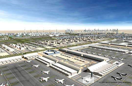 Artist's impression of Dubai International Airport following the completion of all expansion work.