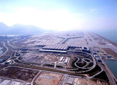 The construction of Hong Kong International Airport at Chek Lap Kok was completed in 1998 at a cost of more than $20bn.
