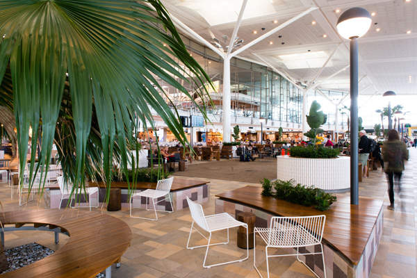The redeveloped international terminal at Brisbane Airport was unveiled in October 2015.  Photo courtesy of Brisbane Airport Corporation.