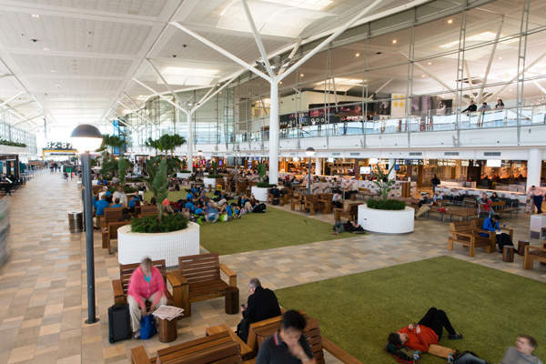 The renovated terminal features more seating and relaxation areas.  Photo courtesy of Brisbane Airport Corporation.