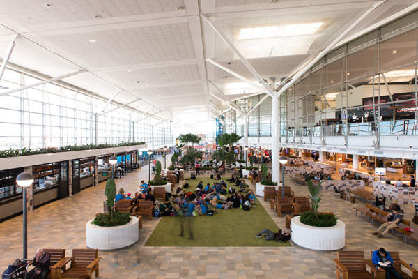 The project added approximately 4,600m² of floor space to the terminal.  Photo courtesy of Brisbane Airport Corporation.