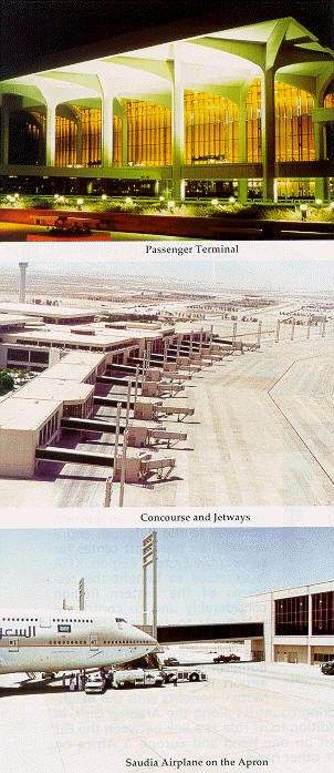 The airport terminal and concourse before the expansion.