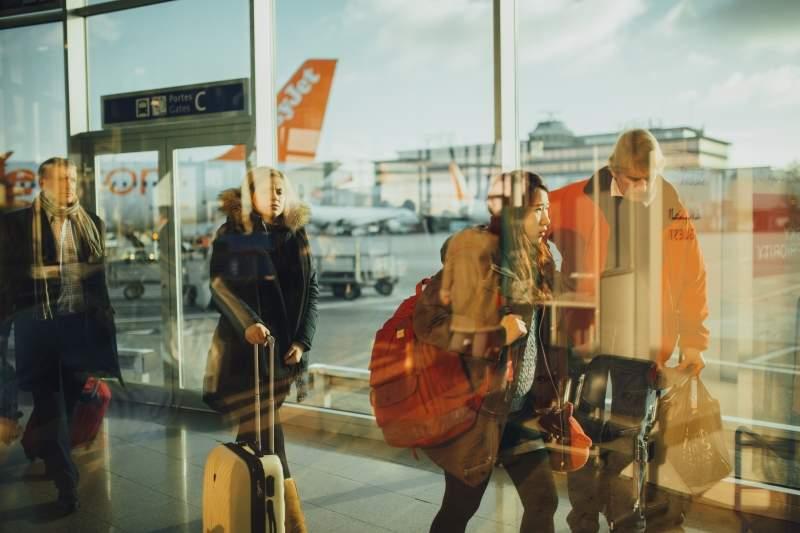 Luggage, airport, passengers