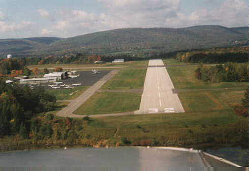 Runway 32 at Pittsfield Municipal Airport. (photo by James Marby)