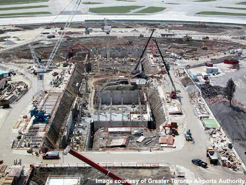 Phase 2 involved the construction of a third pier at new Terminal 1, containing 17 additional gates and extra parking positions for aircraft.