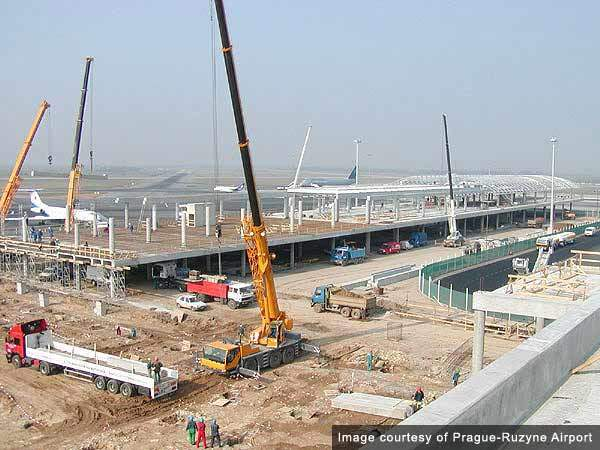 Construction of pier C.