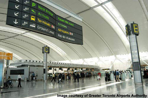 Toronto Pearson International Airport could be further expanded based upon future demand.