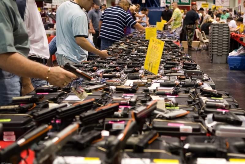 Houston Gun Show, Houston, Texas, pistols, gun show