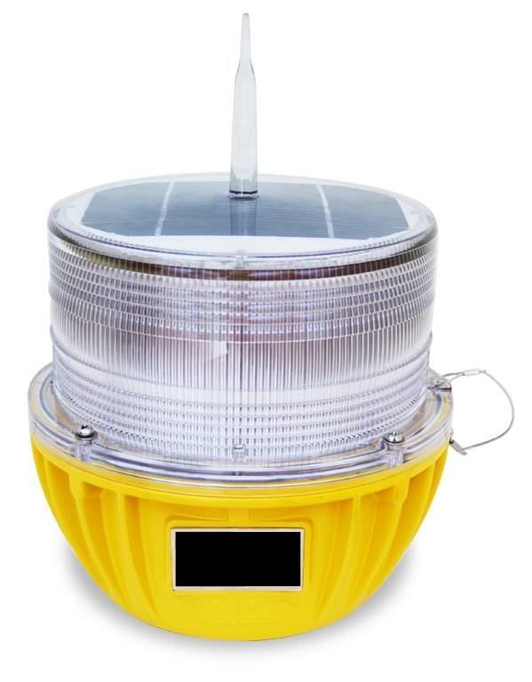 solar-powered aircraft warning light
