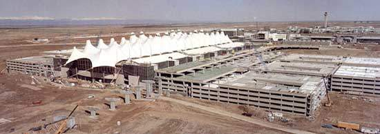 Denver International Airport in Colorado, US, was completed in 1995.