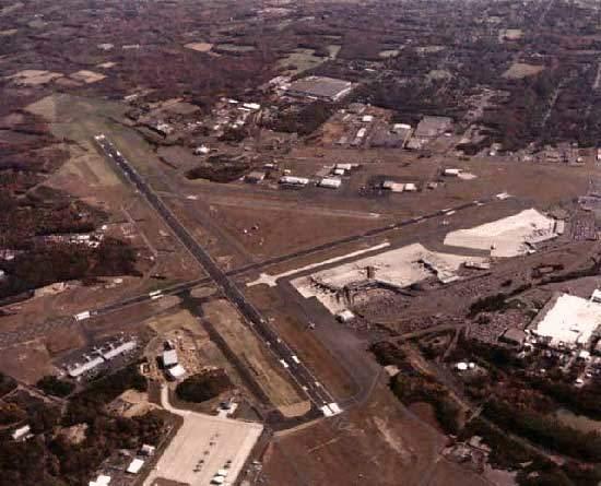 An aerial view of Bradley International Airport.