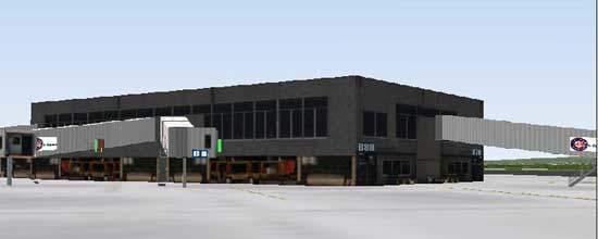 Bradley International Airport passenger terminals.