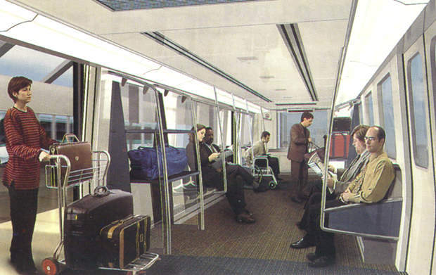 Interior mock-up of Airtrain.