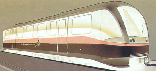 The first artist's impression of a New York Airtrain vehicle.