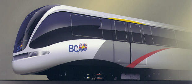 The Bombardier-built Vancouver Skytrain, the forerunner of New York's Airtrain.