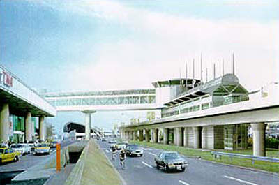 This montage of images shows how the line will run into the heart of the airport and what the new trains look like.