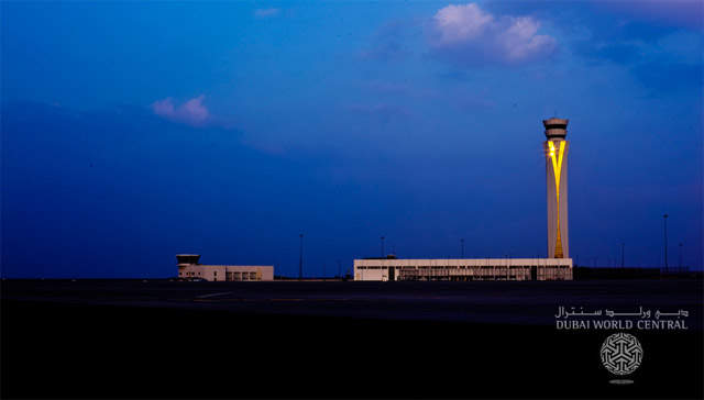 Al Maktoum Airport's air traffic control tower is the tallest freestanding ATC tower in the Middle East. (Image courtesy: Dubai World Central)