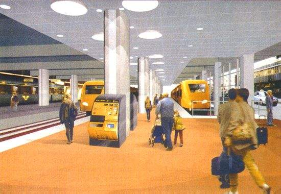 A CAD image of the proposed upgrading of part of Stockholm Central station.