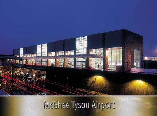 The main terminal building (MTB) at Mcgee-Tyson airport in Knoxville.