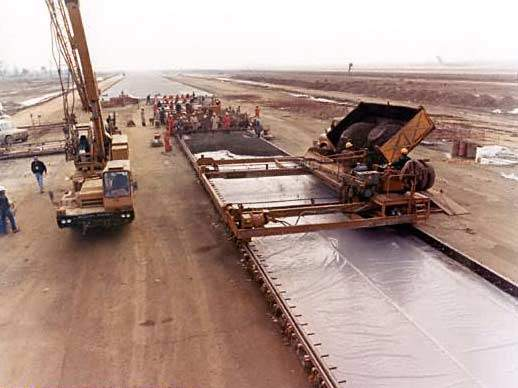 Construction of the passenger terminal at Allama Iqbal International Airport.