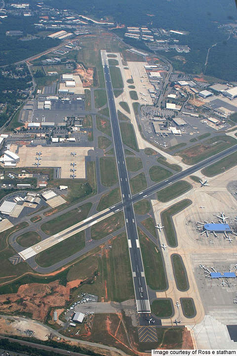 A view of  18L/36R and 5/23 runways.