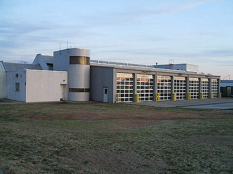 The Charlotte Fire Department's fire station at Charlotte Douglas Airport.