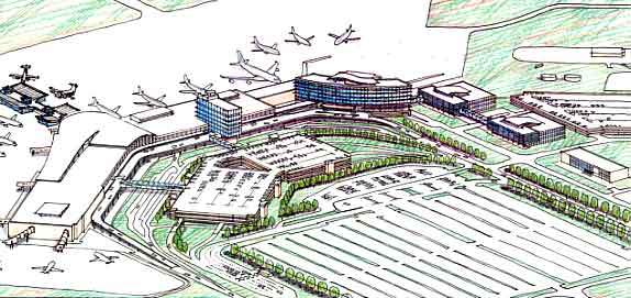 Plan of Edmonton Airport.