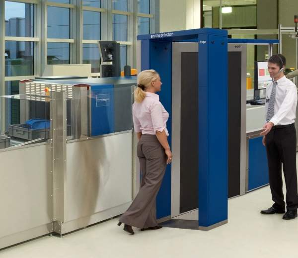 Security checkpoint, Smiths Detection, X-ray, millimetre-wave, trace detection.