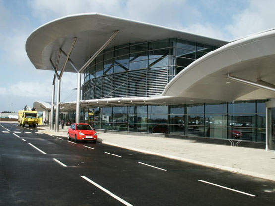 The new terminal was designed to accommodate forecast increases of air traffic over a 25-year period, along with a need for improved car parking, bus services and taxi facilities.