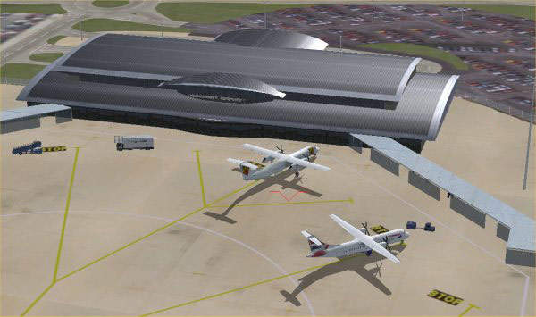 Phase two of the project will include the construction of additional apron aircraft stands of pavement quality concrete (PQC) on the site of the old terminal.