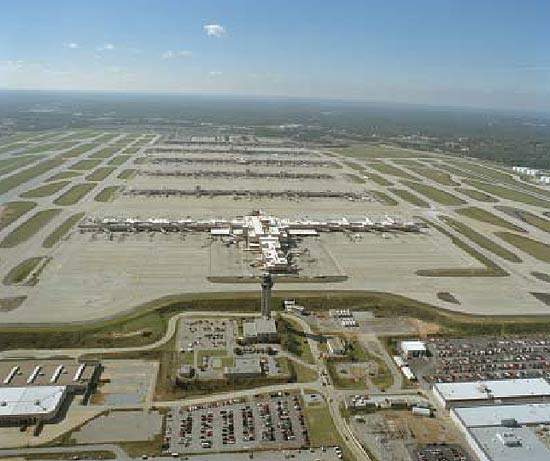 Hartsfield-Jackson Atlanta International Airport is considered to be the world's busiest airport, handling over 80 million travelers and 700,000t of cargo each year.