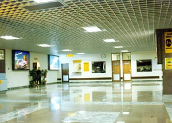 The baggage reclaim hall at Kotoka Airport, Ghana.