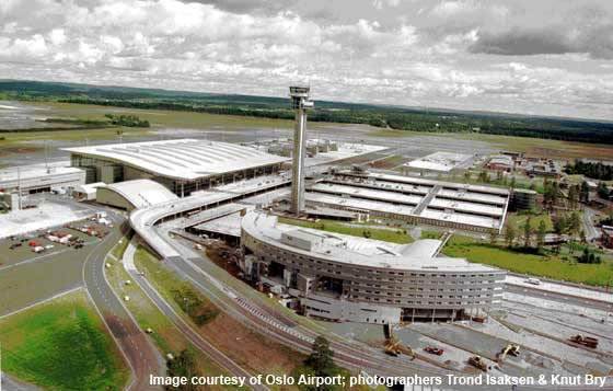 Gardermoen Airport, near Oslo in Norway, was built in 1994 with design capacity for 17 million passengers per year.