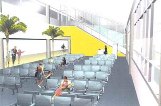 Interior of the Queen Beatrice Airport expansion