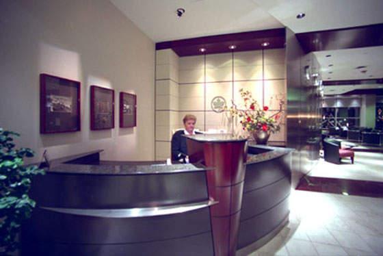 An Air Canada Maple Leaf Lounge.
