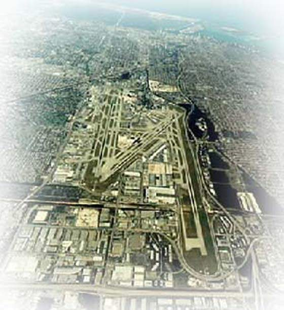 Aerial view of Miami International Airport