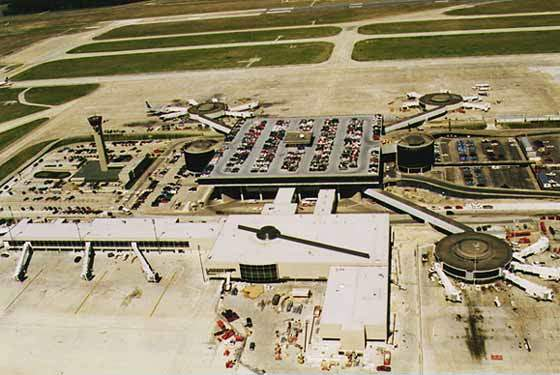 Terminal A of George Bush Intercontinental Airport.