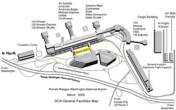 Schematic Plan of Ronald Reagun Airport
