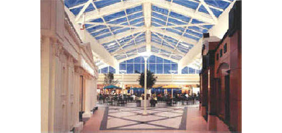 The interior of Terminal A at Sacramento International Airport.