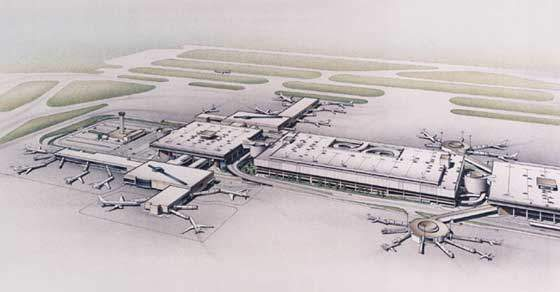 Terminal A in the future (artist's impression).
