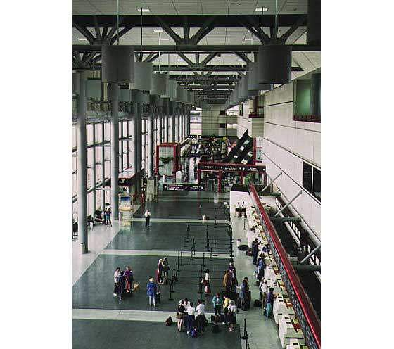 Interior of the international terminal.