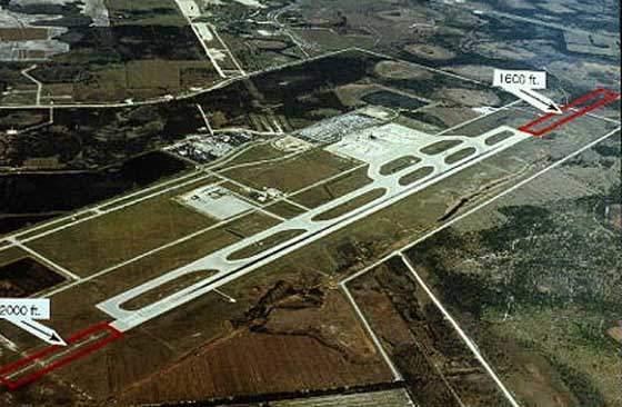 The runway at Southwest Florida International Airport.