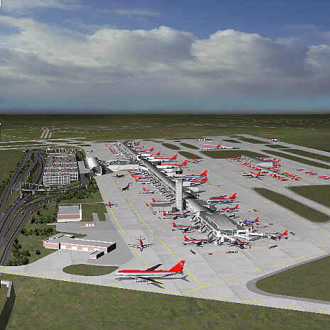 Other new facilities are a passenger tunnel, west concourse with eight jet gates and 25 commuter aircraft gates.