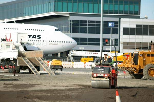 Melbourne Airport's new T2 departures area.