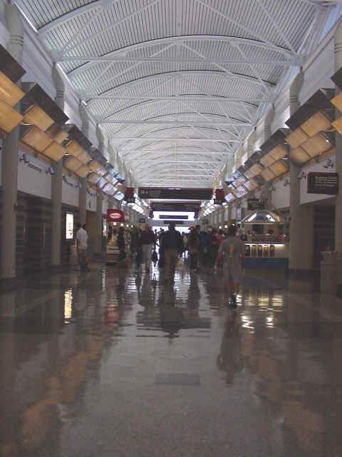 A hall in the New Orleans airport.
