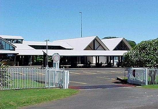 The airport is situated about 1.6km from the main township, Burnt Pine, approximately 1,500km from Brisbane.