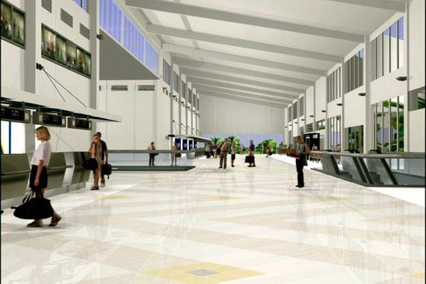 SouthWest International Airport's new terminal has started construction and the project should be completed by 2005.